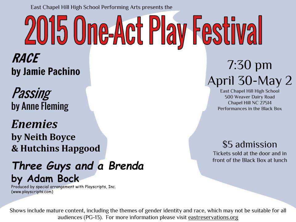 One-Act Play Festival poster final!